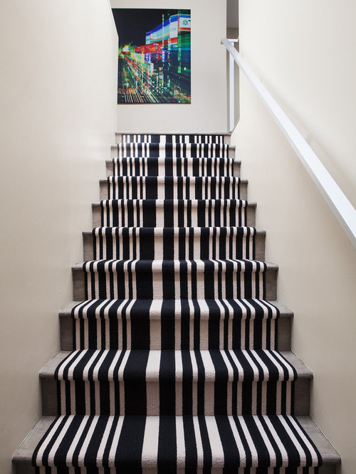Striped Carpet Stairs Houzz