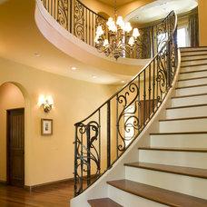 Mediterranean Staircase by Hertel Architects