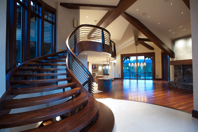 Contemporary Staircase by PCM Inc