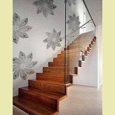 Contemporary Staircase Global Glam Stencil Collection by Kim Myles