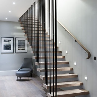75 Beautiful Wood Stair Railing Pictures Ideas Houzz,Residential Small Backyard Landscape Design