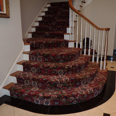 Traditional Staircase by Russell Martin Carpet
