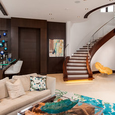 Contemporary Staircase by Alonso & Associates, Inc.
