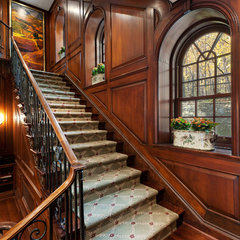 traditional staircase by David Giral Photography