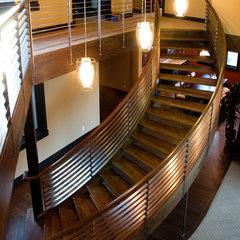 contemporary staircase by Coyote Design Architecture + Planning PLLC