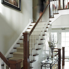 Traditional Staircase by Thomas Cochren Homes