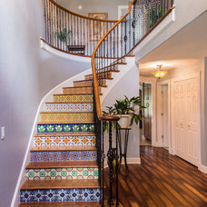 Mediterranean Staircase by Stewart Construction