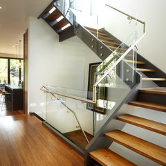 modern staircase by En2 Development Corp