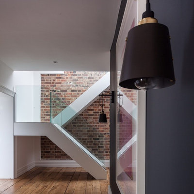 Contemporary Staircase by Cherie Lee Interiors