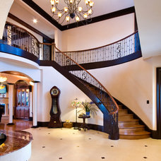 Traditional Staircase by Priester's Custom Contracting, LLC