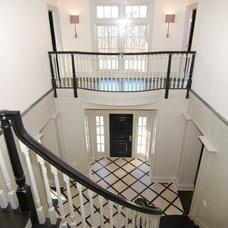 Traditional Staircase by Debra Geller Interior Design