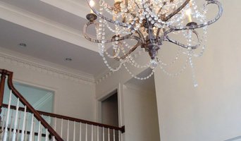 Grand Foyer with Painted Kitchen Cabinets