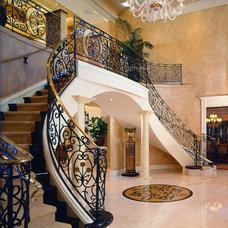 Mediterranean Staircase by Culbertson Durst Interiors