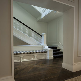Example of a transitional staircase design in Chicago