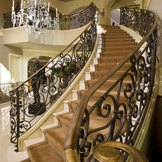 traditional staircase by John Kraemer & Sons
