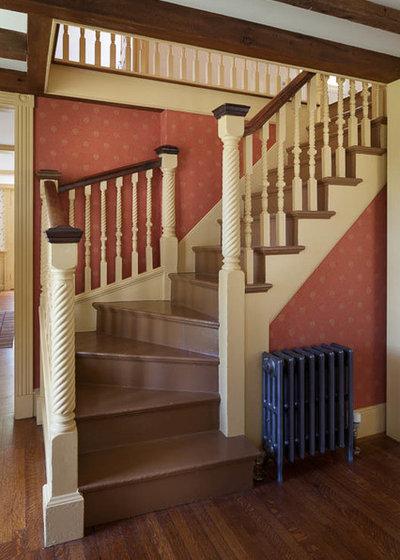 Farmhouse Staircase by Platt Builders