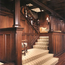 Traditional Staircase by Kass & Associates
