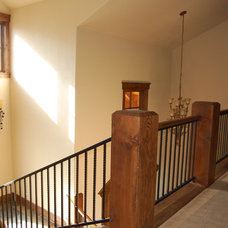 Rustic Staircase by Great Divide Builders