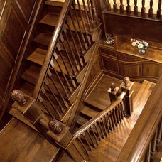 Traditional Staircase by Shuler Architecture