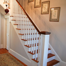 Farmhouse Staircase by Custom Structures Inc