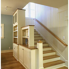 traditional staircase by Barley & Pfeiffer Architects