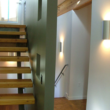 Green Cubed - Modern Staircase Photos