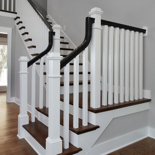 Inspiration for a transitional staircase remodel in Charleston
