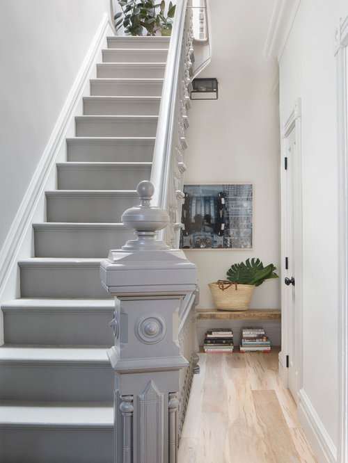 Gray Paint Staircase Ideas Amp Photos Houzz