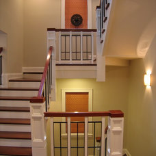 Traditional Staircase by COOK ARCHITECTURAL Design Studio