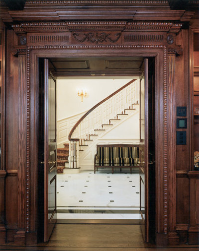 Traditional Staircase by Douglas VanderHorn Architects