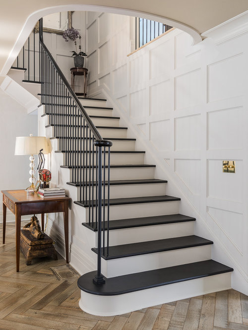 L Shaped Staircase Design Ideas Remodels Amp Photos