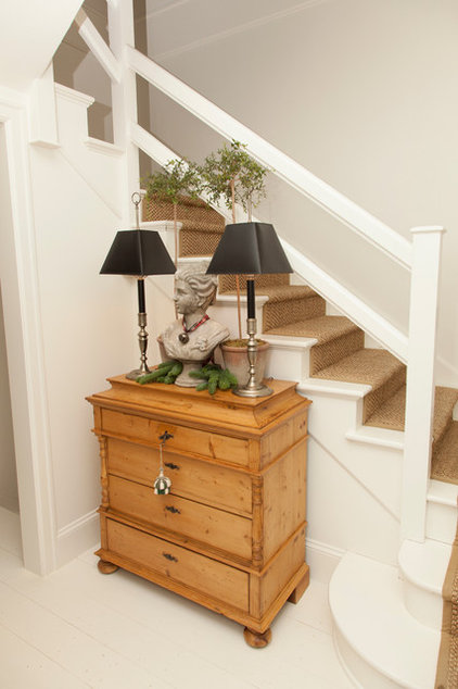 traditional staircase by Whitney Lyons