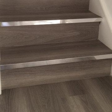 Grey Amtico Flooring to Stairs