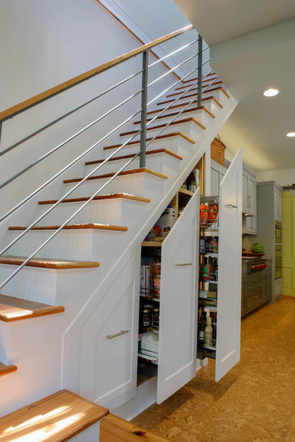Transitional Staircase by HINGE Cabinetry & Furniture