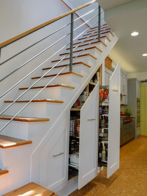 Inspiration for a transitional staircase remodel in Richmond