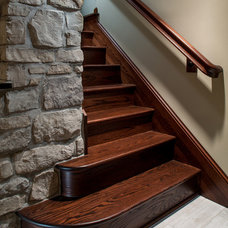 Contemporary Staircase by Mosby Building Arts