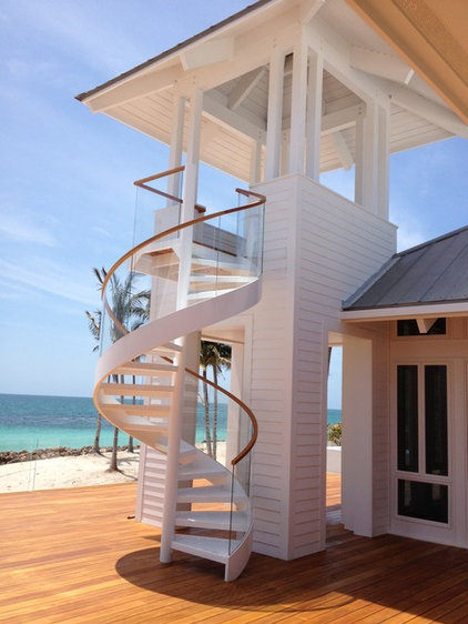 Contemporary Staircase by Faour Glass Technologies