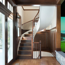 Transitional Staircase by Twin Peaks Construction, LLC