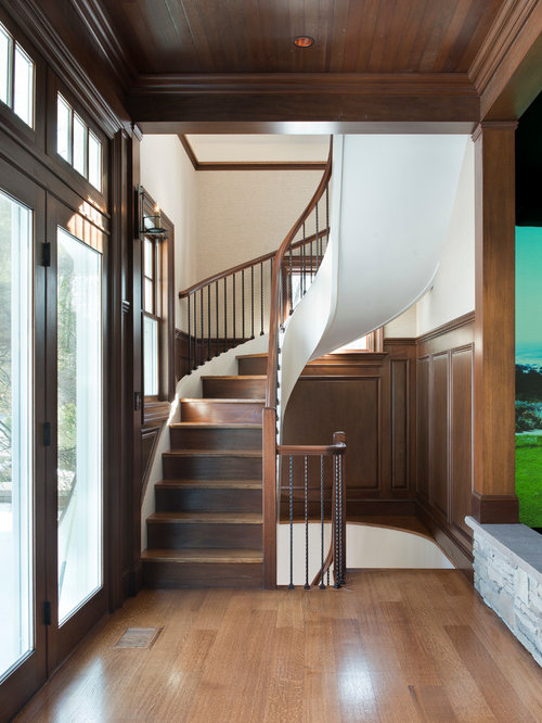 Small Footprint Staircase Design Ideas Remodels Amp Photos