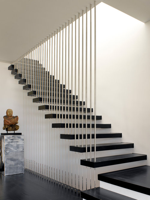 best straight stairs design ideas  u0026 remodel pictures