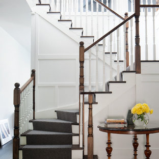 Mid Sized Traditional Wood Staircase In Melbourne.