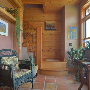 This is an example of a rustic staircase in Boise.
