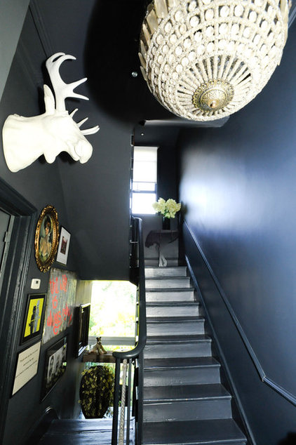 eclectic staircase by Beccy Smart Photography
