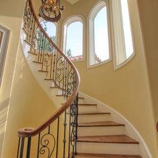 Mediterranean Staircase by Randy Jeffcoat Builders, Inc.