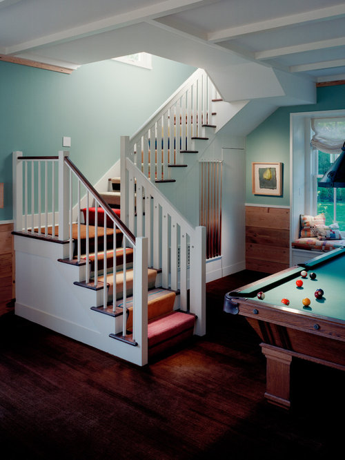 Turn stairs home design ideas pictures remodel and decor for Wood floor 90 degree turn