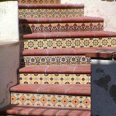 Mediterranean Staircase by Matt Clark Tile & Stone