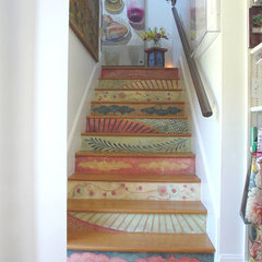 eclectic staircase by Fine Art & Portraits by Laurel