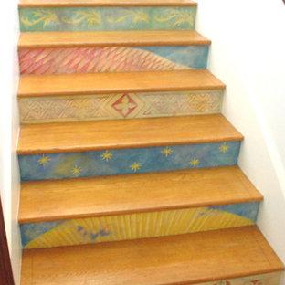 Пример оригинального дизайна: лестница в стиле фьюжн