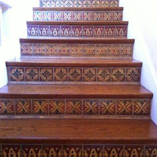 Inredning av en medelhavsstil trappa