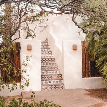 Handpainted Tile Stair Risers
